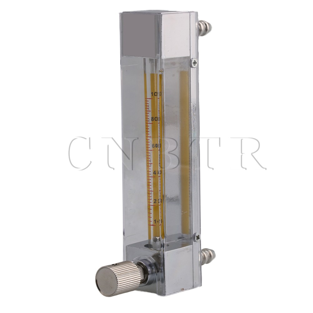 CNBTR Plastic Clear LZB-3 10-100ml/min Flow Meter for Liquid Water Gasoline with Control Valve and 0.3in Hose lzb 2 glass rotameter flow meter with control valve for liquid and gas conectrator it can adjust flow