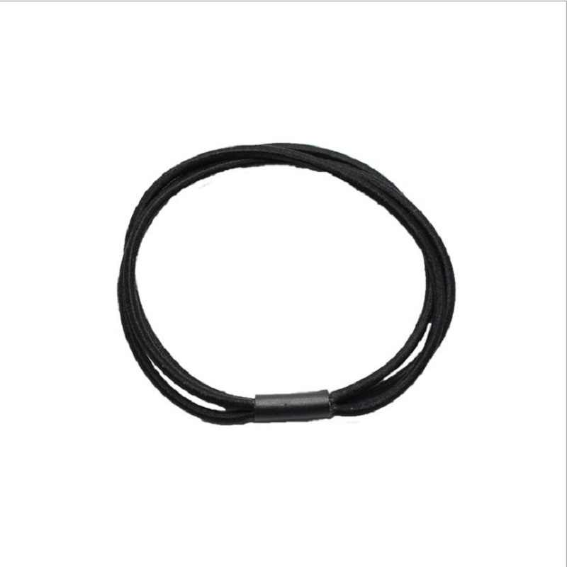 6colors Women Basic Elastic Hair Band Ponytail Holder Simple Three Layer Ring Tie Gum Holder Hair Accessories Scrunchy for Lady