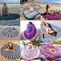 Microfiber Printed Round Beach Towels With Tassel Circle Beach Towel Serviette De Plage Bath Towels Home Textile