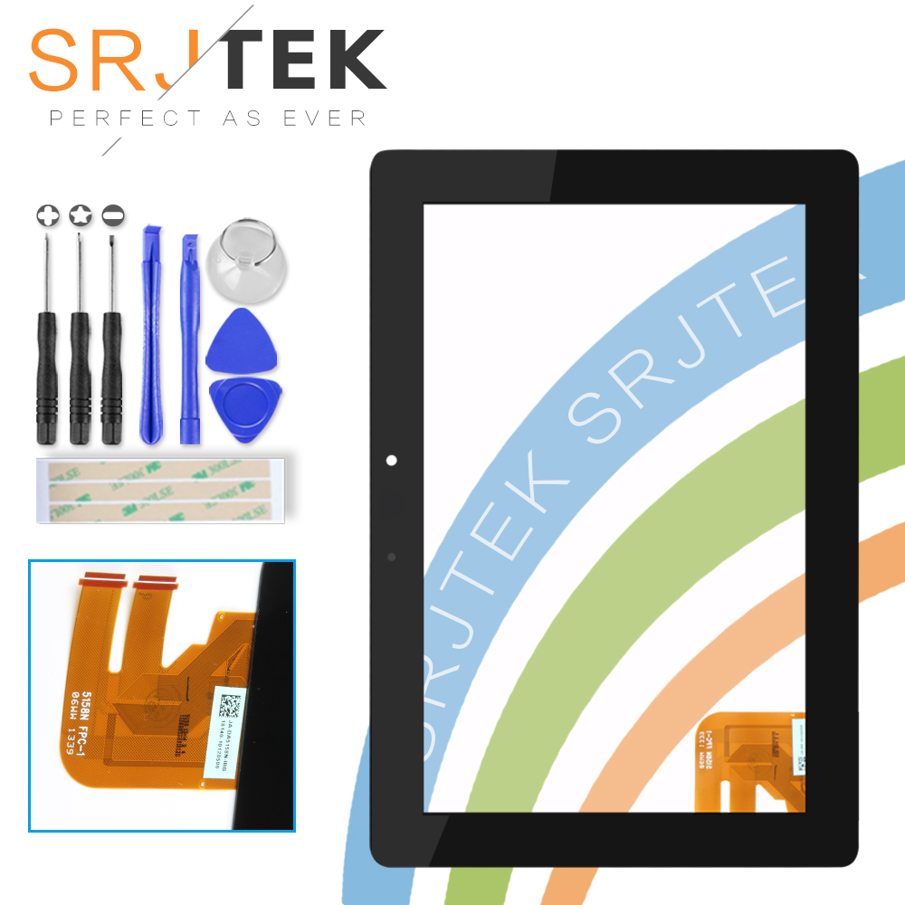 Srjtek For Asus Transformer Pad TF300T TF300 tf300tg G01 Version Black Digitizer Touch Screen Glass 69.10I21. G01 tf300 g01 replacement tablet touch screen panel digitizer for asus eeepad transformer tf300 tf300t version g01 69 10i21 g01