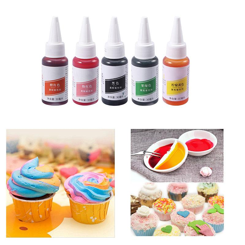 30ml Baking Food Colouring Edible Gel Macaron Cream Food Coloring Ingredients Cake Colorant Cake Coloring Pastry Pigment Tools