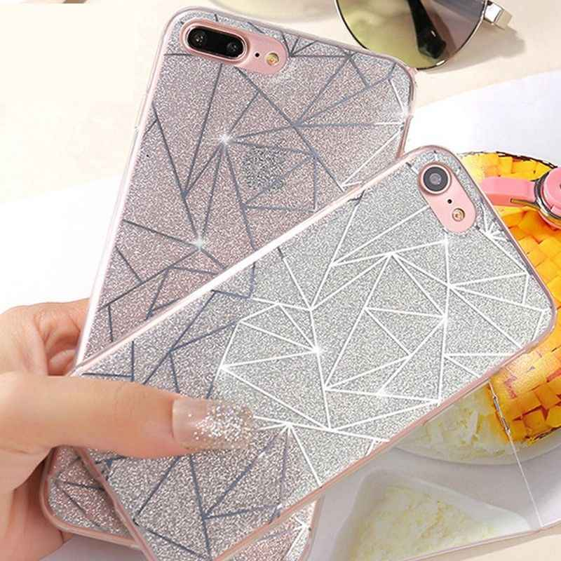 Яркие блестящие чехлы для телефонов с блестками для iPhone 6, 6 S, жесткая блестящая задняя крышка для iPhone 7, 8, 5, 5S, SE, чехол, оболочка, Funda Capa