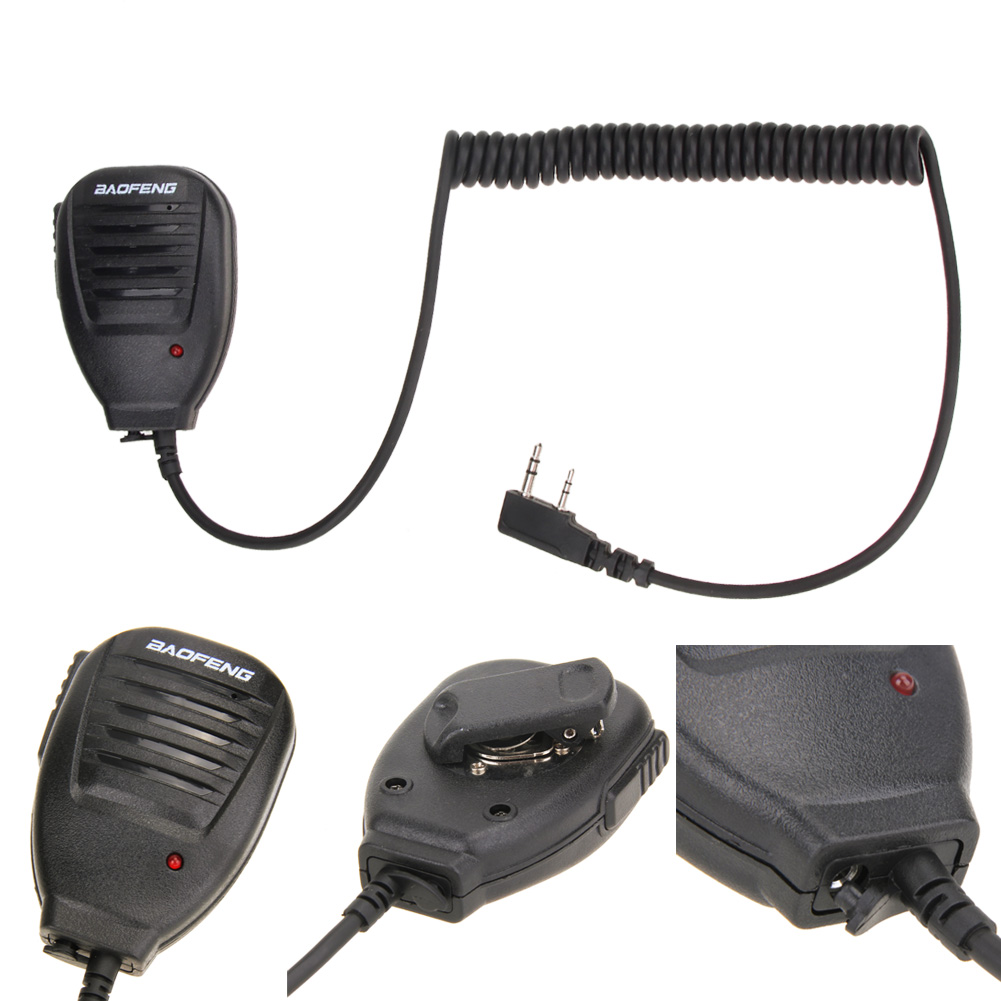 PTT Handheld Speaker Two Way Radio Speaker Microphone For Walk Talkie For Baofeng UV 5R 5RA 5RE 5R Plus 888s