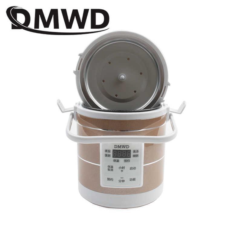 DMWD 12 فولت 24 فولت موقد صغير لطهي الأرز سيارة شاحنة حساء عصيدة ماكينة طهي قدر الغذاء البخاري الكهربائية علبة طعام للتسخين وجبة سخان أكثر دفئا
