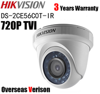 Hikvision DS 2CE56C0T IR HD 720P Indoor IR Turret TVI Camera IP66 Weatherproof IR 20m CCTV TVI Camera