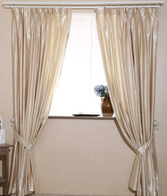 2pcs High Grade 60 shade artificial silk solid 4 colors bedroom curtains customize window curtain for