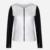 1 Unid Moda de Nueva Delgado Mujeres de Las Señoras de Traje Chaqueta de Manga Larga Casual Zipper Cardigan Jacket Negro Blanco Colores Chaquetas de Invierno y Co