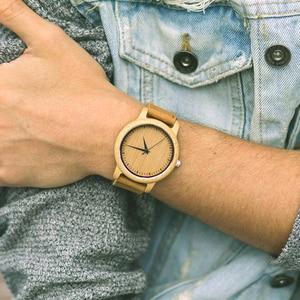Image 2 - BOBO VOGEL Uhren Bambus Paare Uhren Liebhaber Handgemachte Natürliche Holz Luxus Armbanduhren Ideal Geschenke Einzelteile OEM Drop Verschiffen