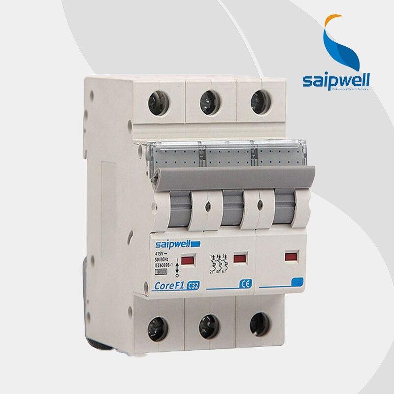 wholesale saipwell 3p spf1 3 63 c32 earth leakage 32 amp circuit breaker 380v 20a inline breaker. Black Bedroom Furniture Sets. Home Design Ideas