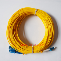 Free Shipping LC/UPC to SC/UPC LC SC Fiber Optic Patch Cord Duplex Fiber Indoor Fiber Cable SM PVC 2.0mm 40M