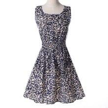 women's cute summer chiffon cheap beach sleeveless printing floral A line Mini dress robe courte friendship love 2016