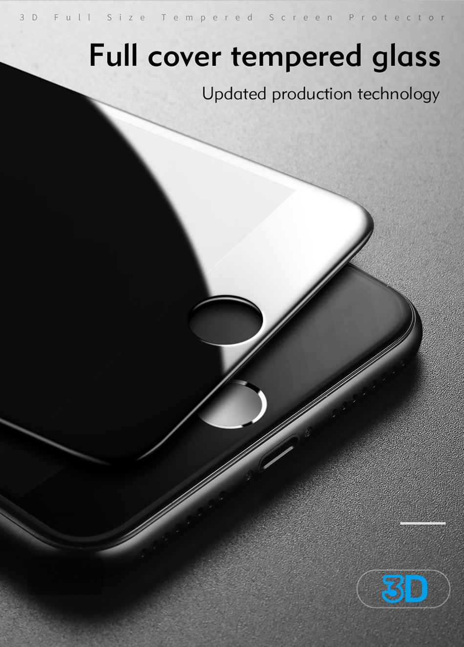 Benks 3D Tempered Glass Film For iPhone 8 7 6s Full Curved Screen Protector 0.23mm Cover Protection Front Film For iphone 6 Plus (4)