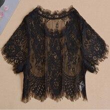 64a4d8a7f2fc0 Kore kadın sahte yaka yaz vahşi dantel bluz içinde zarif çıkarılabilir  collares ahşap kulak bluz kadın vahşi alt kısa