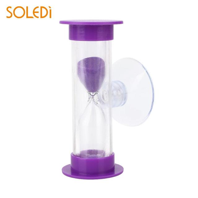 Colorful Sand Clock with Sucker Home Convenient Shower Timer Bathroom Practical Hourglass Accessories