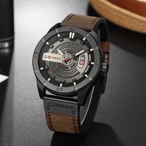 Image 4 - CURREN Hot Fashion Creative Watches Casual Military Quartz Sports Wristwatch Display Date Male Clock Hodinky Relogio Masculino