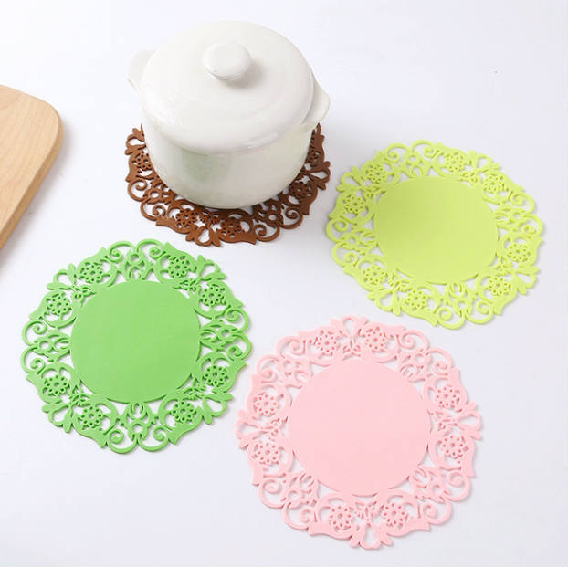 Cup Glass Pad Mat Kitchen Tableware Round Shape Silicone Non Slip Pad Coaster Antiskid Mat Bowl Cup Drink Bottle Mat Pads