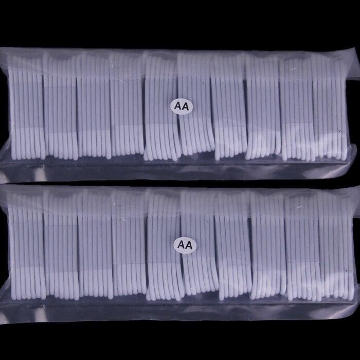 bilder für Freies verschiffen 1 Mt 3FT 200 teile/los Weiß 8 pin usb Kabel zubehörpakete für handy 5 5 s 6 6 s 7 plus laptop
