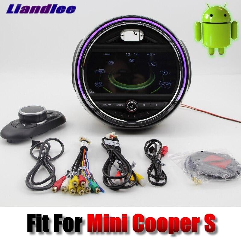 Liandlee Pour Mini Cooper S 2016 ~ 2018 système Android Voiture Lecteur Multimédia NAVI Avec iDrive Bouton Voiture Radio GPS Navigation