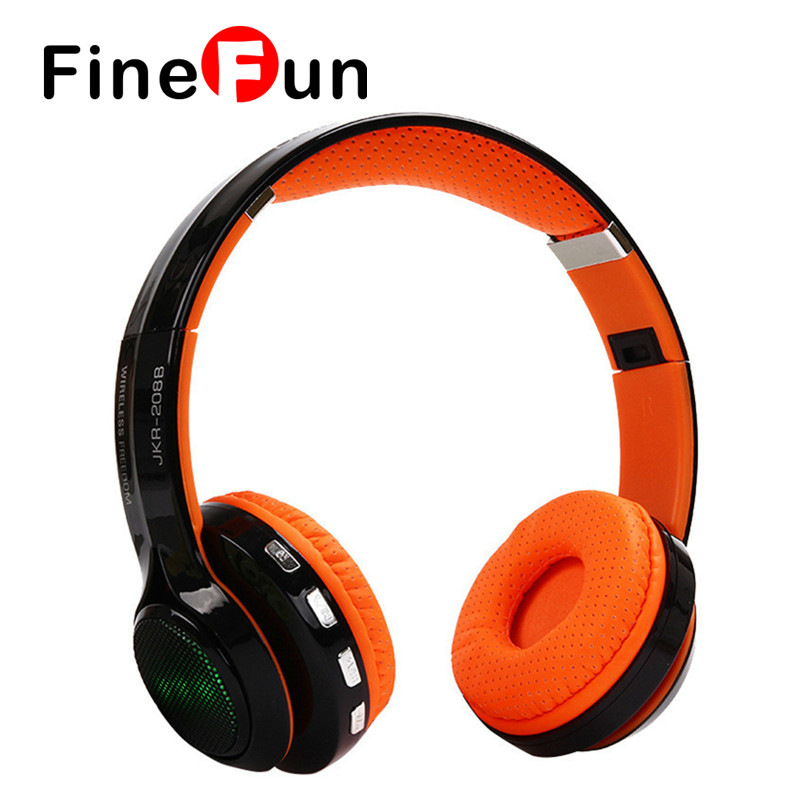 ФОТО FineFun JKR-208B with Support Foldable Stereo Music Headset Bluetooth Wireless Audio FM Radio for Smart Phones PC