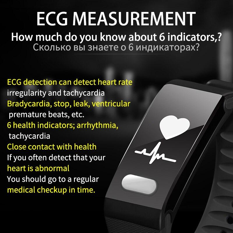 Rastreador De Fitness Heart Rate Monitor de Pressão Arterial Novo ECG SENSTHEN Das Mulheres Dos Homens Pulseira Pulseira De Fitness Do Bluetooth Pulseira Inteligente