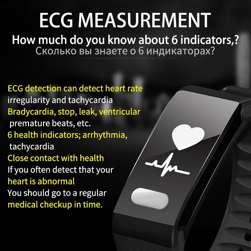 SENSTHEN крови Давление монитор сердечного ритма Новое ЭКГ Фитнес трекер Браслет Фитнес браслет Bluetooth Для мужчин Для женщин умный Браслет
