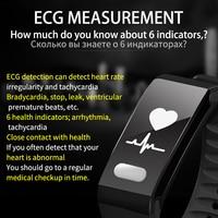 SENSTHEN Blood Pressure Heart Rate Monitor New ECG Fitness Tracker Wristband Fitness Bracelet Bluetooth Men Women Smart Bracelet