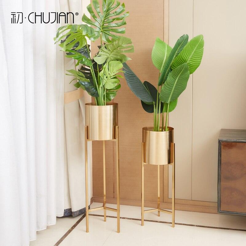 Large Vases For Living Room Decor: Nordic Creative Metal Large Floor Vases Home Decor Crafts