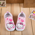 Children's shoes 2017 new cartoon kitty printed canvas baby learning shoes 21-26