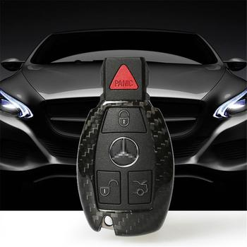 High Quality Original Carbon Fiber Car Key Case Key Bag For Benz C Series E Series CLA220 E260L GLKGLA CLS C200L