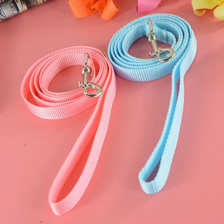 Producto Del Animal Doméstico de Nylon Durable 120 cm Longitud Azul/Rosa Perro d