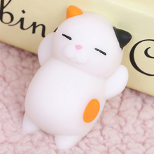 1pcs Cute Finger Toys Squishy Mini Kawaii Squeeze Stretchy Animal Healing Stress White Cat Animals Anti