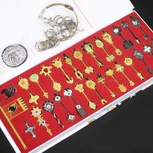 28 шт. аниме Сказочный хвост косплей Lucy сердце Небесный Дух Ворота брелок ожерелье кулон металлические ключи аксессуары подарок