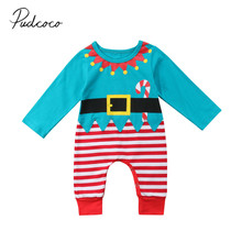 Baby Girl Newborn Baby Boy Christmas Costume One Piece Romper 0-24M Fits