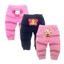 3 шт./лот, штаны на подгузник г., модные детские штаны с принтом животных из мультфильмов детская одежда штаны для малышей от 0 до 24 месяцев