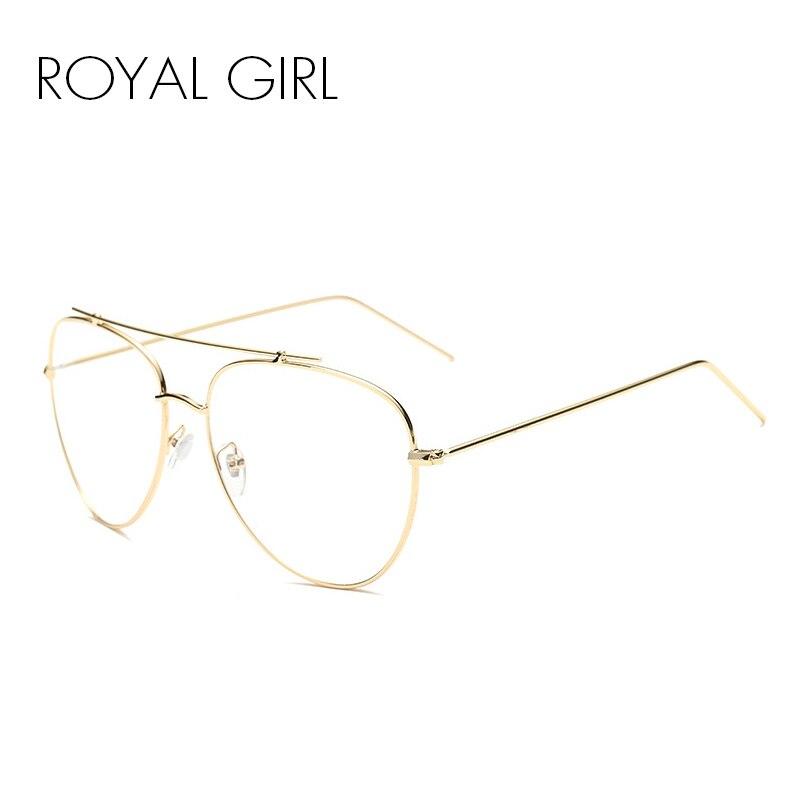 ROYAL GIRL Women Eyeglasses Classic Brand Metal Cool Sun Glasses Clear lens Alloy Legs Eyeware SS931
