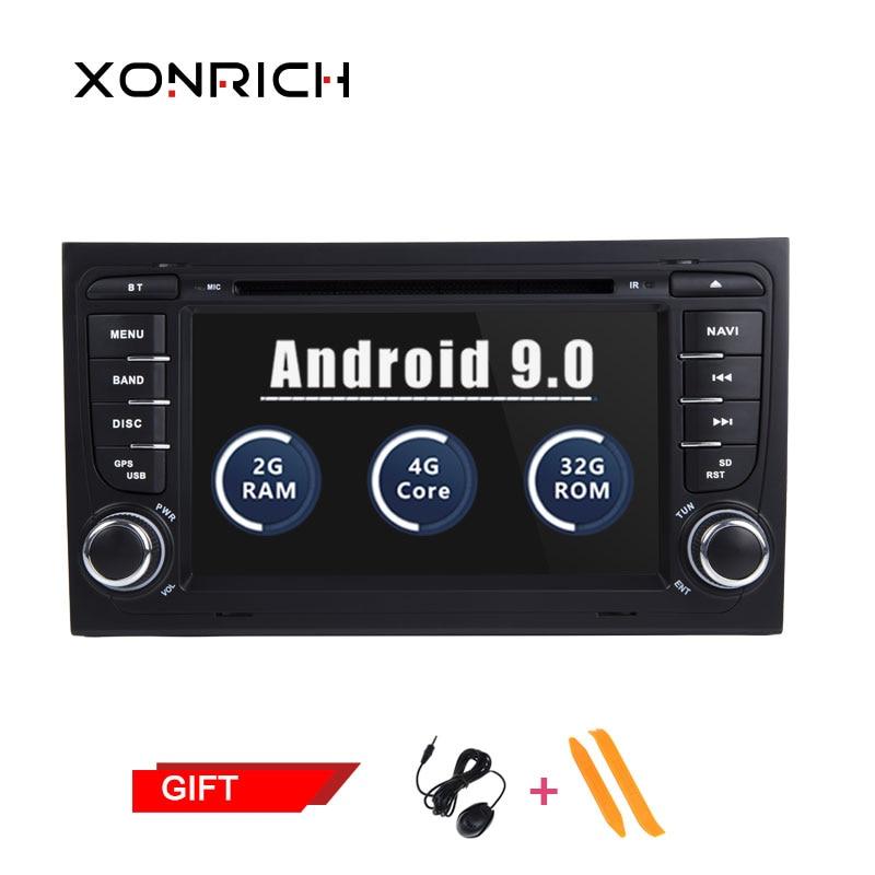 2 Din Android Som Do Carro Jogador Car Multimedia para Audi 2010 A4 S4 B6 B7 RS4 8E 8 H 8F b9 Seat Exeo GPS DVD AutoRadio BT