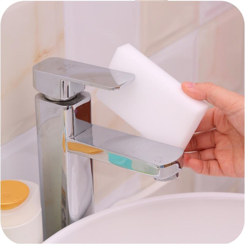 Effaceur éponge mélamine magique multifonction | 10 pièces, nettoyeur éponge de nettoyage, éponges de cuisine, mixeur de salle de bains