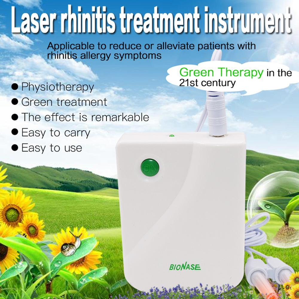 BioNase Laser Rhinitis Treatment Instrument Sinusitis Cure Therapy Massage Hay fever Low Frequency Pulse Nose Care Nasal Massage cozing hot bionase rhinitis sinusitis nose therapy massage device cure hay fever low frequency pulse laser therapentic masseur
