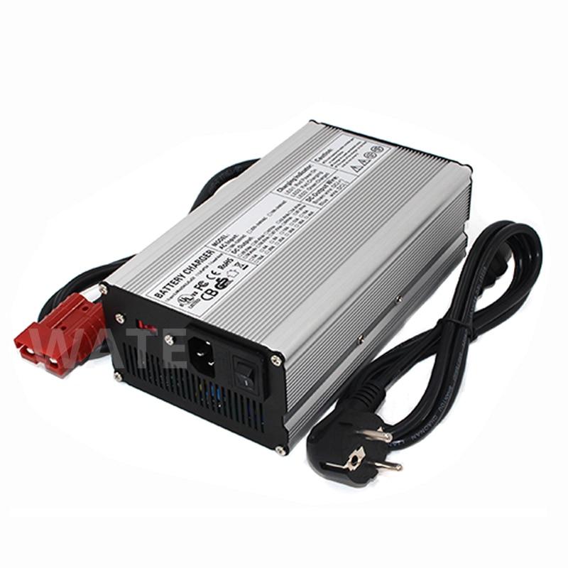 Tüketici Elektroniği'ten Şarj Cihazları'de 43.8 V 10A LiFePO4 akıllı şarj cihazı 36 V 10A Hızlı şarj cihazı için Kullanılan fan için 12 S 36 V LiFePO4 LFP pil