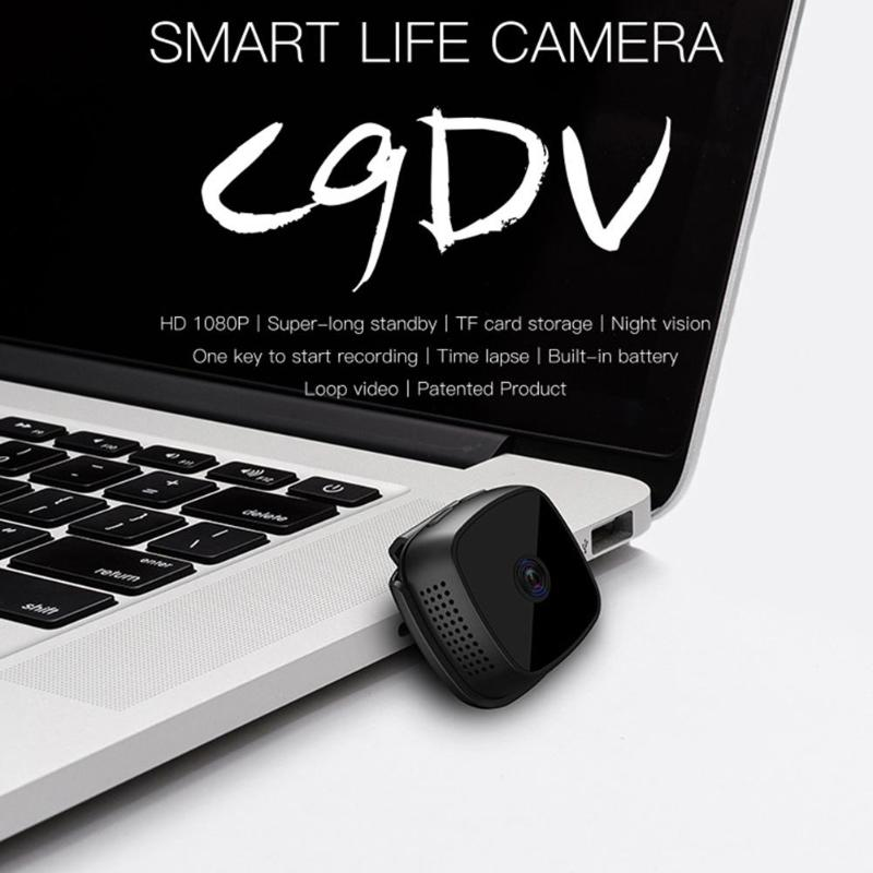 Image 2 - New C9 DV 1920x1080P HD 2MP Mini Camera Night Vision Camcorder Car Sport DV DVR Recorder with 6 high bright LED lights-in Mini Camcorders from Consumer Electronics