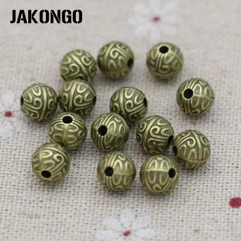 JAKONGO entretoise perles Antique argent plaqué perles en vrac pour la fabrication de bijoux Bracelet bijoux accessoires artisanat fait main 7mm 25 pièces
