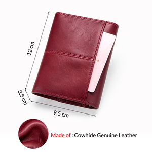 Image 2 - Contacts Fashion Coin Purse Zipper Wallet Genuine Leather Women Wallets Small Money Bag for Ladies Short Billfold Card Holder