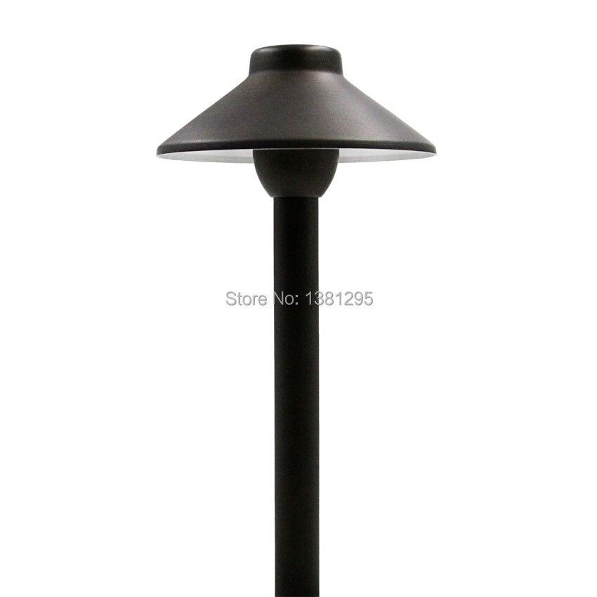 12V Outdoor Landscape Yard Garden Lawn Path Light Waterproof LED Lawn Lamp Pathway Lighting G4 Cast Brass Bronze Low Voltage