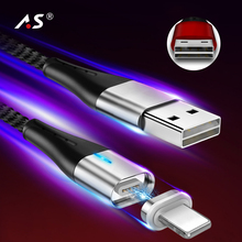 A.S Double Side USB Type C/Micro USB/Lighting Magnetic Cable