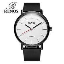 RENOS Women Watch Simple Black White Wristwatches In Box Fas