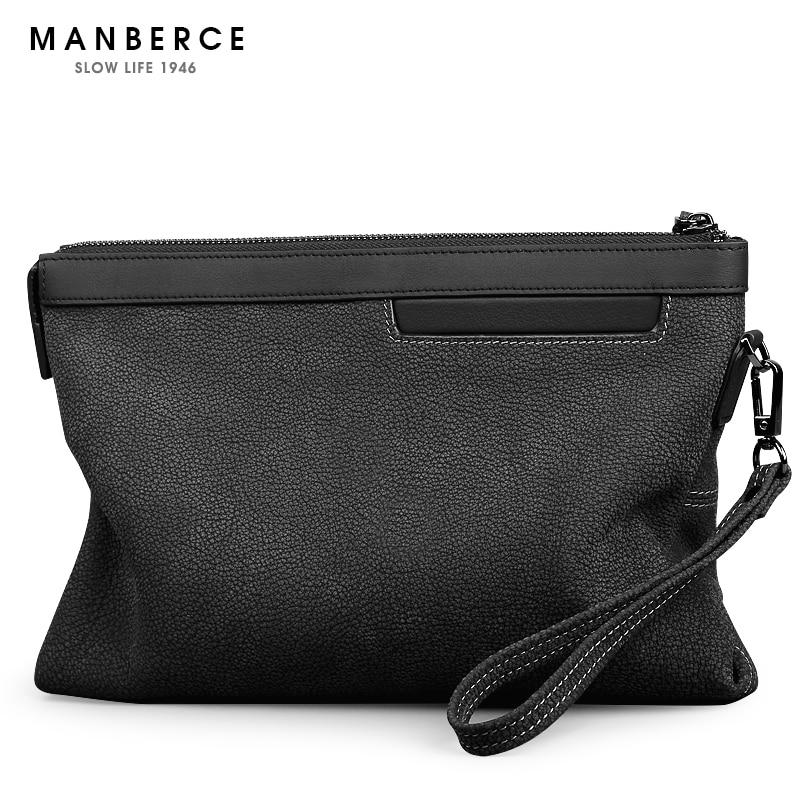 9ef59eb797455 ... 2018 العلامة التجارية MANBERCE عالية الجودة الرجال حقيبة صغيرة Ge.