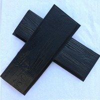 1PC Simulation of wood grain Wooden Boards Concrete Stone Mould Garden Stepping Stone Path Road Brick Mold Yard DIY Decoration