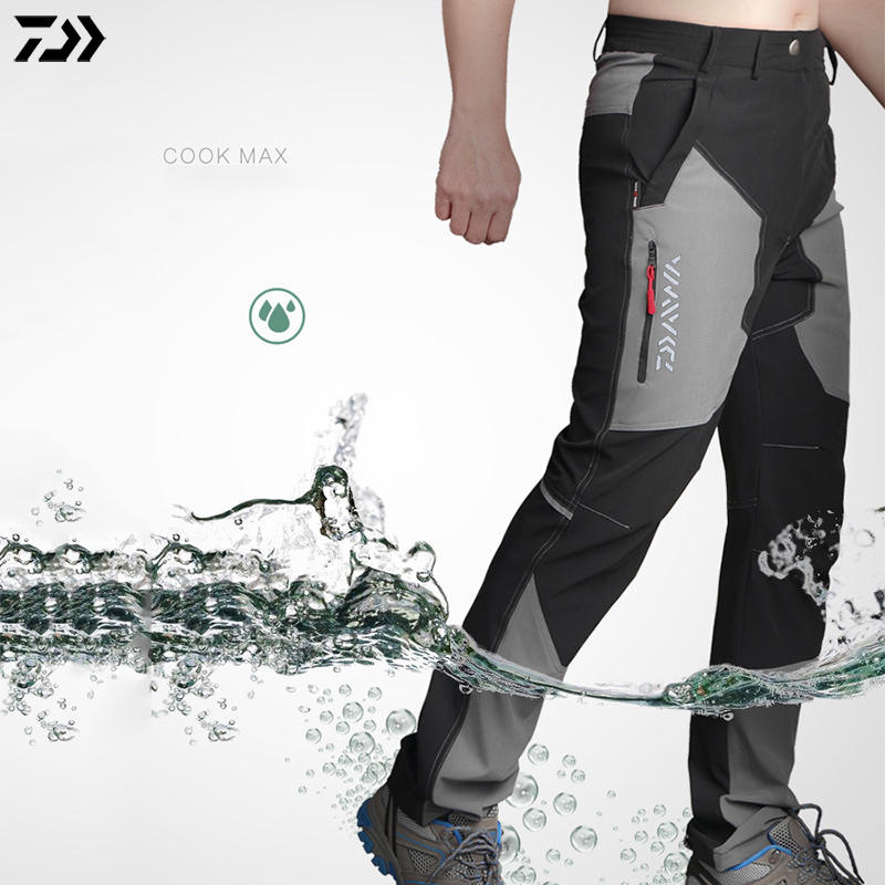 DAWA Summer Professional Men Outdoor Sports Pants Fishing Pants Anti-static Anti-UV Quick Drying Breathable Pants