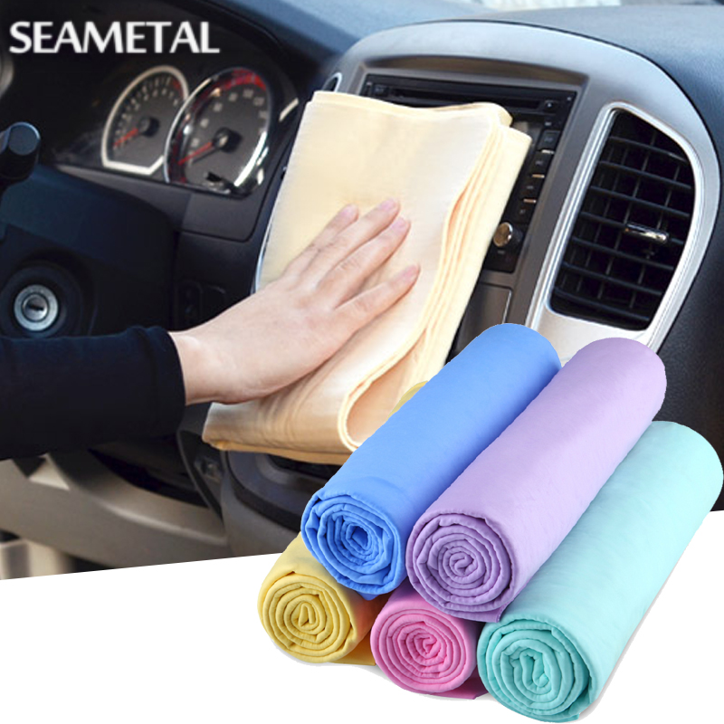 39x29cm Car Wash Towel Super Absorption Carwash Care Cleaning Cloths Synthetic Suede Handkerchief Supplies Auto Accessories