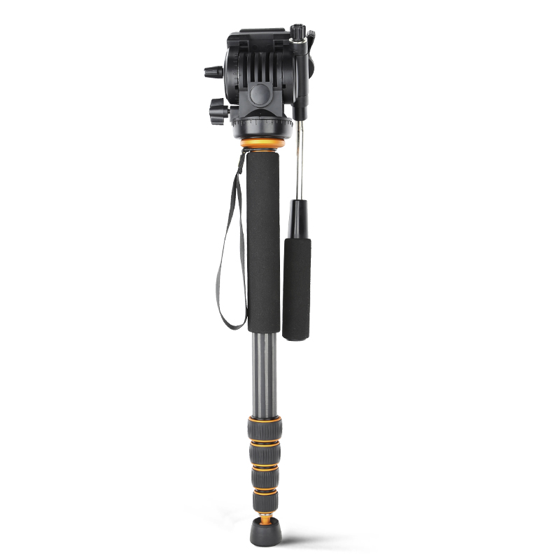 QZSD Q188C Carbon Fiber Monopod 5-sections 560mm-1640mm Load 8KG with Pan Pan Tilt Head Quick Release Plate for Canon Nikon Sony 50pcs lot wire hanger fastener hanging photo picture frame quick easy clutch release nickel plate movable head ceiling